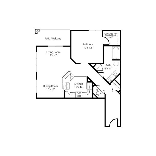 1 BR B Prairie Crest Apartments