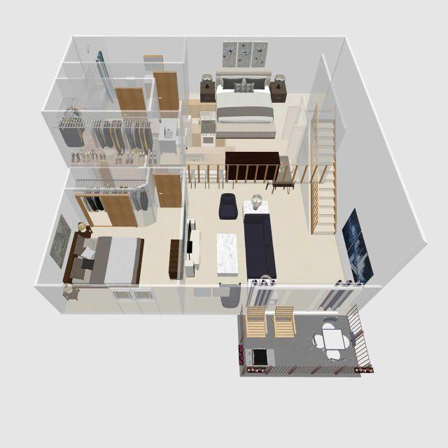 Two Bedroom Loft F